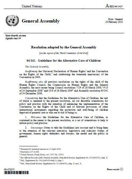 UN Guidelines